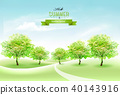 Nature summer countryside landscape background 40143916