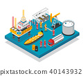 isometric, oil, platform 40143932