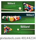 Billiards sport banner for snooker and pool design 40144234