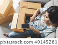 Young asian woman working online business  40145261
