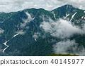 从Iig山脉,Kigoya附近看到的多云Dainichitake 40145977