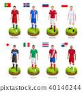 Group soccer football player jersey world team. 40146244