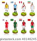 Group soccer football player jersey world team. 40146245