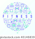 concept, icon, fitness 40146839