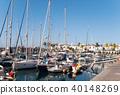 Sailing boats at marina on Gran Canary Island 40148269