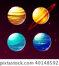Planets of solar system in space galaxy vector cartoon illustration 40148592