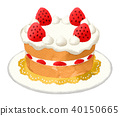 Strawberry Shortcake Base (Watercolor)-Without Chocolate Plate 40150665