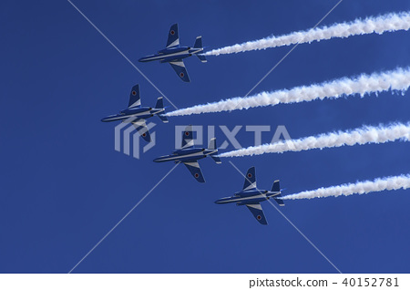 Blue impulse Over-the-air training 4 aircraft change over turn