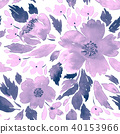 Seamless watercolor floral pattern 40153966