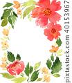 Floral frame arrangement template 40153967