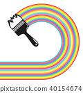 brush, paint, vector 40154674