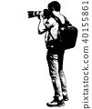 photographer with his telephoto lens sketch 40155861