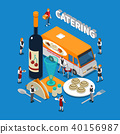 Catering Isometric Composition 40156987