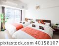 침대, 침실, 인테리어 40158107