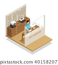 Key Service Isometric Composition 40158207