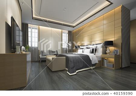 luxury modern bedroom suite in hotel 40159390