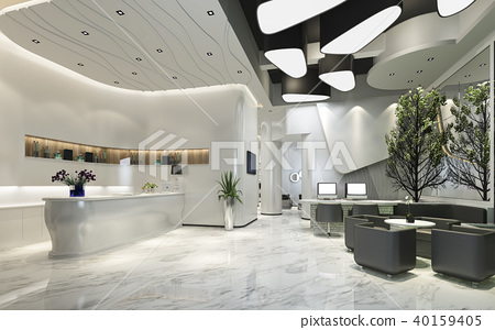 modern luxury hotel reception and lounge 40159405