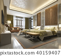 luxury chinese bedroom suite in resort hotel 40159407
