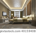 luxury chinese bedroom suite in resort hotel 40159408