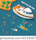 Water Sports Isometric People Concept 40159567