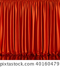 red, curtain, stage 40160479