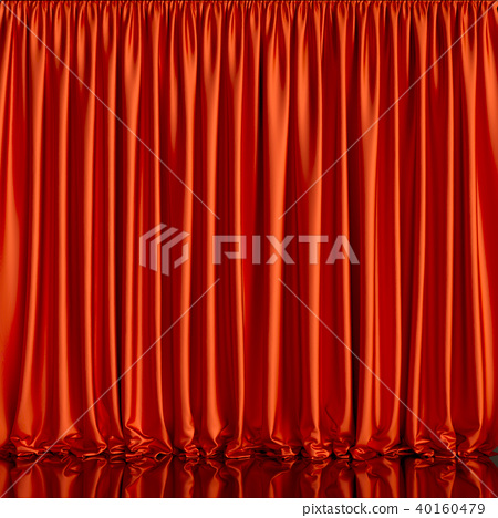 Red curtain background 40160479