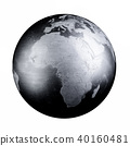 Black iron metal world map Earth 40160481