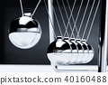 Balancing balls newton's cradle 40160488