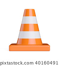 Traffic road cone front view 40160491