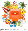 Vector Beach Accessories with Rolling Bag 40161742