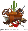 Vector Cowboy Concept with Saddle 40161744