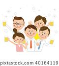 팝 비즈니스맨과 비즈니스 우먼 5 명 상반신 남녀 회식 40164119