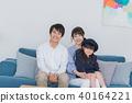 年轻的家庭,父母和孩子,孩子,微笑 40164221