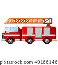 Fire truck with ladder 40166146