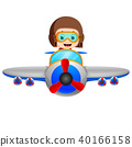 professional pilot riding flying plane 40166158