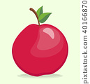 Red apple vector 40166870