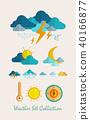 Meteorology Weather flat set 40166877