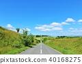 blue sky, sky, road 40168275