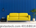 3D rendering of interior room with sofa, laptop co 40168614