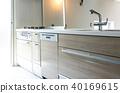 入住前新的單戶住宅內部系統廚房 40169615