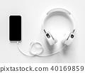 smart phone and headphones 40169859