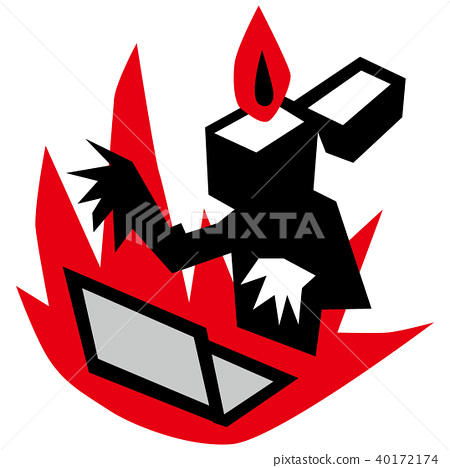 flaming internet lighter stock illustration 40172174 pixta