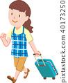 여행가방, 캐리어, 여름 40173250
