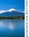山 Yamanashi Prefecture》 Mt. Fuji and Kawaguchiko in the early summer 40173685