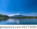 山 Yamanashi Prefecture》 Mt. Fuji and Kawaguchiko in the early summer 40173694