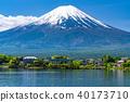 山 Yamanashi Prefecture》 Mt. Fuji and Kawaguchiko in the early summer 40173710