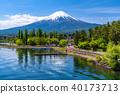 山 Yamanashi Prefecture》 Mt. Fuji and Kawaguchiko in the early summer 40173713