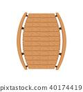 Wooden bridge, landscape design element, top view vector Illustration on a white background 40174419