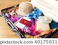 가방 여름 여행 해외 여행 여름 방학 여권 40175031