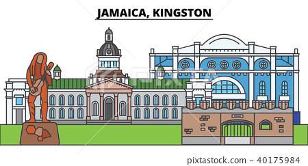 Jamaica, Kingston. City skyline, architecture, buildings, streets, silhouette, landscape, panorama 40175984